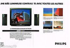 Publicité Advertising 1990 (2 pages) Les téléviseurs Match Line Philips