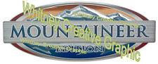 "Montana ""MOUNTAINEER EDITION"" RV LOGO Graphic Lettering decal 5th Wheel 28""x11.5"