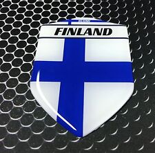 """Finland Flag Suomi Proud Shield Domed Decal Emblem Car Sticker 3D 2.3""""x 3.3"""""""