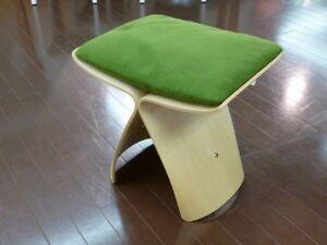 Sori Yanagi Butterfly Stool Tendo Mokko Cushion Green From Japan New