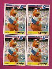 4 X RARE 1986 EXPOS / CANADIENS YOUPPI  PROVIGO FOOD MINT CARD  (INV# A7396)