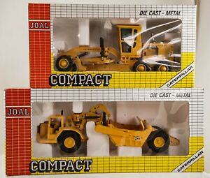 JOAL COMPACT CATERPILLAR ROAD GRADER 631D AND CATERPILLAR SCRAPER 12 G Die Cast