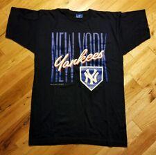 Vintage 1991 Champion New York Yankees Logo T-Shirt Men's Size Large L Rare