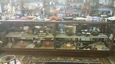 ANTIQUE Large American Oak Grand Rapids Show Cabinet General Store