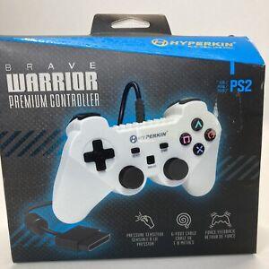 Brave Warrior Premium Controller For PS2 Hyperskin White
