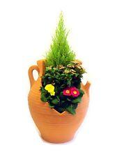 Large Cracked Athenian Jar Garden Planter Terracota / patio flower pot tub shrub