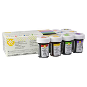 Wilton Colore Glassa Gel Colorante Alimentare Commestibile Concentrato Set di 8
