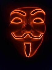 LED Mask Anonymous Hacker V FOR Vendetta Guy Fawkes Halloween Cosplay Gunpowder