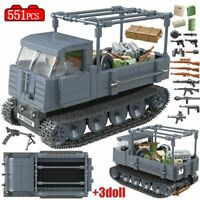 Military Track Tractor Tank Building Blocks Soldier Figures Bricks Sets For Kids