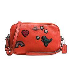 Coach_NWT_Souvenir Embroidery_Leather Crossbody_Wristlet_Clutch_Double Zip_57866