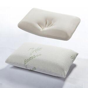 Bamboo Memory Foam Pillow Anti Bacterial Firm Medium Support Pillows AntiAllergy