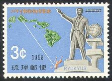 Ryukyus 1969 Ryukyu-Hawaii Emigration/Statue/Map/People/Politics 1v (n26933)