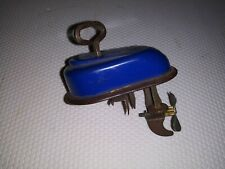 Vintage Irwin Toys Blue Wind-Up Boat Motor Toy