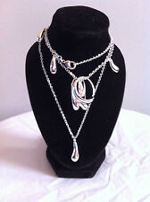 Jewellery Set Silver Plated 5 Piece  - Necklace, Bracelet, Earrings & Ring NEW