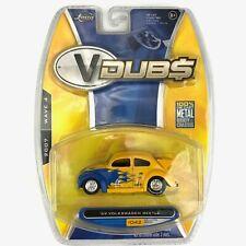 Jada V-DUBS 1959 59 Volkswagen VW Beetle Drag Bug Yellow Car Die Cast 1/64 Scale