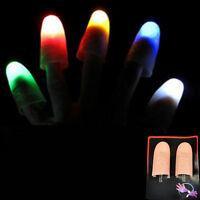 2X Magic Light hoch Daumen Finger Trick Erscheinen Licht CloseUp Farbe Zufa R2G8