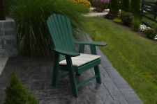 Outdoor Poly Upright Adirondack Chair - Turf Green - Made in Usa