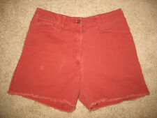 Women's 12 Abercrombie & Fitch Cut-off Worn Style Soft Red Shorts 100% cotton