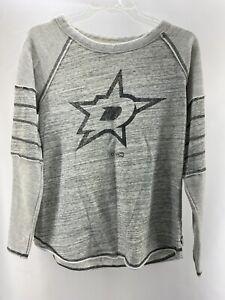 Dallas Stars NHL CCM Women's Gray Long Sleeve Shirt Sz L Hockey