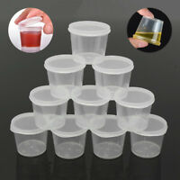 30pcs 35ml Clear Plastic  Reusable Hinged Lid Sauce Container Soup Storage Cups