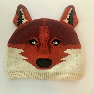 Baby Gap Knit Red Fox Hat Cap Beanie 18-24 months