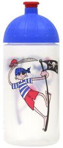 ISYbe Kinder-Trinkflasche, Pirat 0,5L, BPA-frei, auslaufsicher, Kohlensäure geei