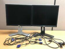 Dual Dell UltraSharp 17-inch Gaming LCD Monitors W/USB Adjustable Height