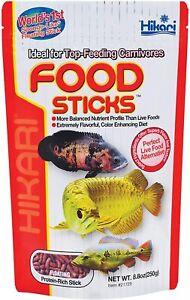 Hikari Tropical Carnivore Sticks 8.8 Oz Arowana Gar Food stick live alternative