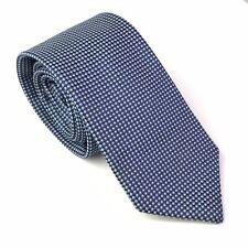 Canali Blue Navy Blue Geometric Dot Silk Tie Luxury Necktie