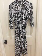 Ladies Black And White Wrap Dress, Stitches Brand, Size 16