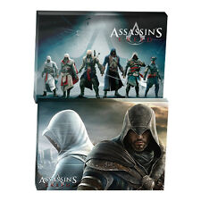 ASSASSINS CREED WALL CANVAS Pack of 2 Character Man Cave Christmas Gift SALE