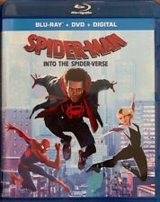MARVEL SPIDER MAN INTO THE SPIDER VERSE BLU RAY DVD 2 DISC SET FREE SHIPPING