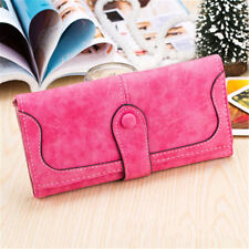 Leather Retro Matte Stitching Women Wallet Long Mobile Card Holder Case Purse