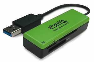 Plugable SuperSpeed USB 3.0 Flash Memory Card Reader (Windows, Mac, Linux, etc.)