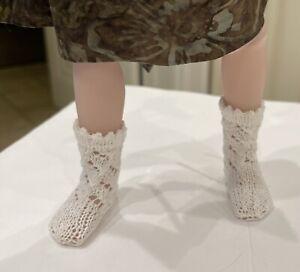 "1 Pair cotton knit Socks 4 Ruby Red Fashion Friend 14.5"" Doll"