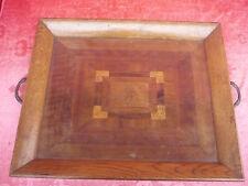 Sublime, Ancien Tableau pour Meuble Intérieur; __ Bois __Incrustations__ 44cm_
