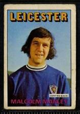 (Le075-348) ABC Gum, Footballers, Leicester City, #142 Malcolm Manley 1972 G
