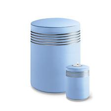 Urne Nova Atlantik hellblau mit Silberstreifen inkl. Memory Urne