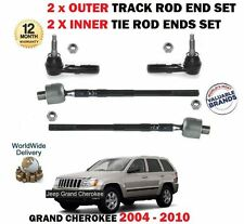 FOR JEEP GRAND CHEROKEE 2004-> 2x INNER + 2x OUTER TRACK RACK TIE ROD END SET