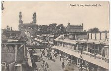 India; Street Scene, Hyderabad PPC Plain Back c 1910's to Miss Waters, Buxton