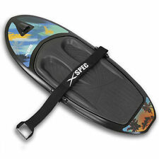 Xspec Kneeboard with Hook for Knee Surfing Boating Waterboarding, Black
