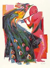 Lothar Blanc-beauté et muse-Farbholzschnitt 1988
