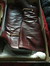 Red Boots With Gold Chain, Size 7, From River Island