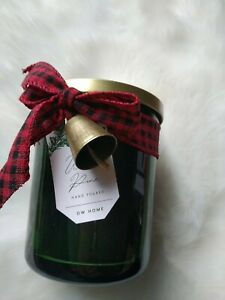DW HOME RICHLY SCENTED Fresh Cute Pine Jar Xmas CANDLE 108g Naughty Nice Tag