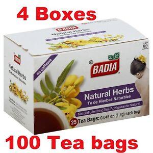 Badia-Natural Herbs Slimming/Slim Tea  Lose Weight Detox(4 Packs ) 100 tea bags