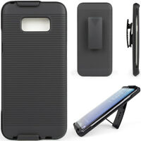 Cell Phone Case For Samsung Galaxy S8 G9500 With Belt Clip Cover Black