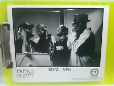 R&B Group Boyz II Men The Prince Of Egypt 8x10 Press Promo Black  White Photo
