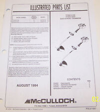 mcculloch silvereagle32 instruction manual
