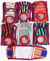 SET - 3pcs Striped Diapers Dog Male Boy BELLY BAND For Small Dogs XXS/XS/S/ M/L