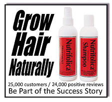 OUR BEST SELLING NUTRIFOLICA TREATMENT SHAMPOO end dht hair loss no side effects